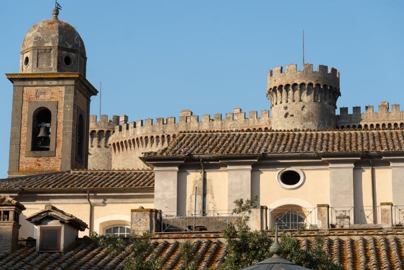 Orsini Odescalchi slott, Bracciano, Italien fotografering för bildbyråer