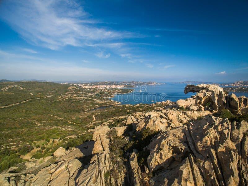 "Orso Παλάου Σαρδηνία Ιταλία Δ Capo "" Άποψη του βράχου αρκούδων στοκ φωτογραφία με δικαίωμα ελεύθερης χρήσης"