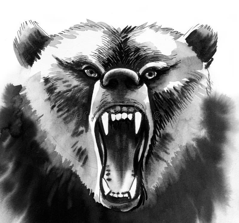 Orso arrabbiato illustrazione di stock