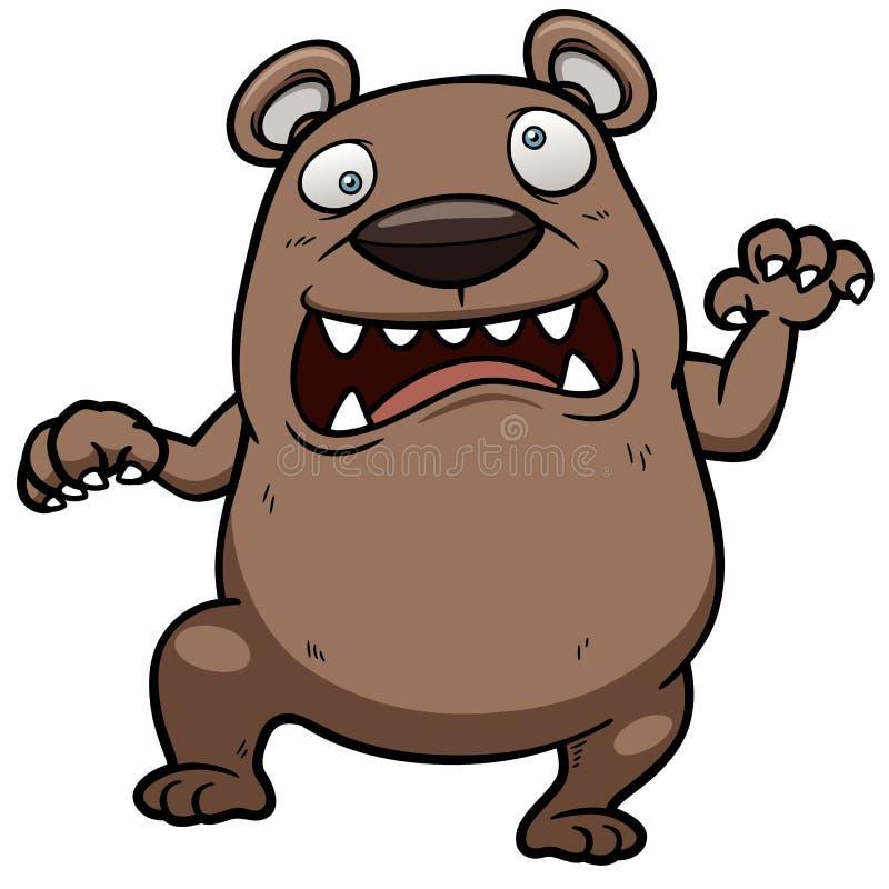 Orso arrabbiato del fumetto illustrazione di stock