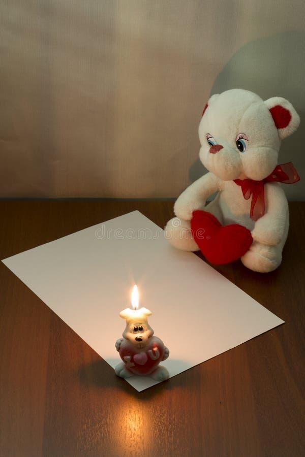 Orso bianco dell'orsacchiotto fotografie stock libere da diritti
