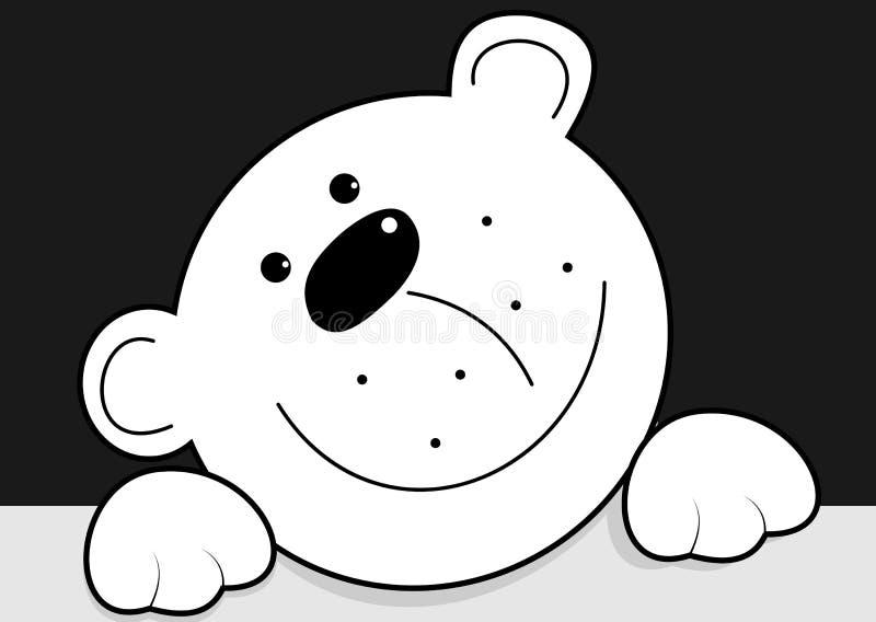 Orso bianco divertente illustrazione di stock