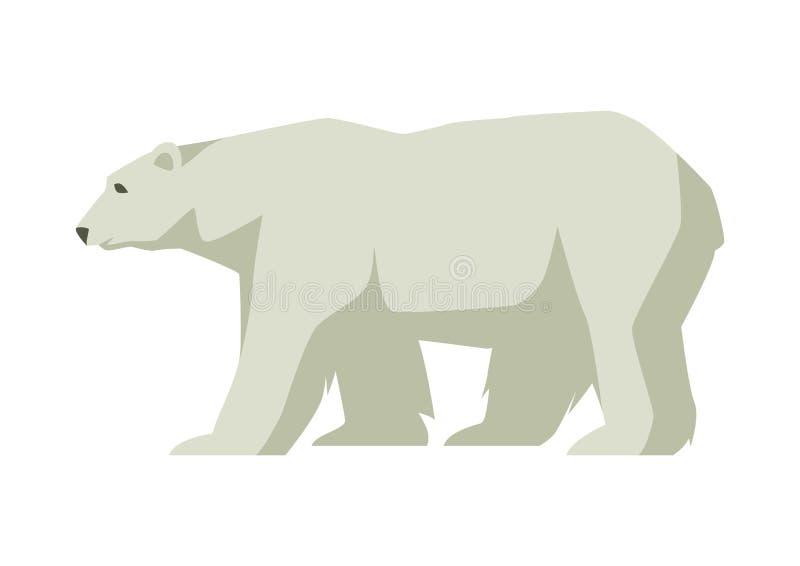 Orso bianco polare Illustrazione di un animale nordico illustrazione di stock