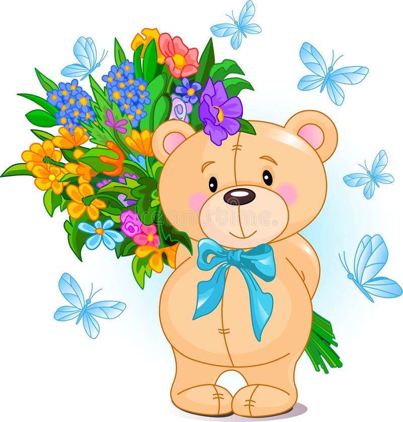 Orso blu dell'orsacchiotto illustrazione vettoriale