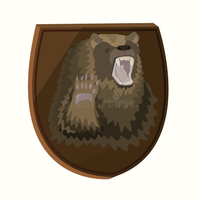 Orso bruno farcito autoadesivo royalty illustrazione gratis