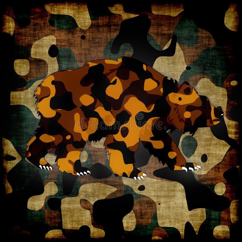 Orso cammuffato illustrazione vettoriale