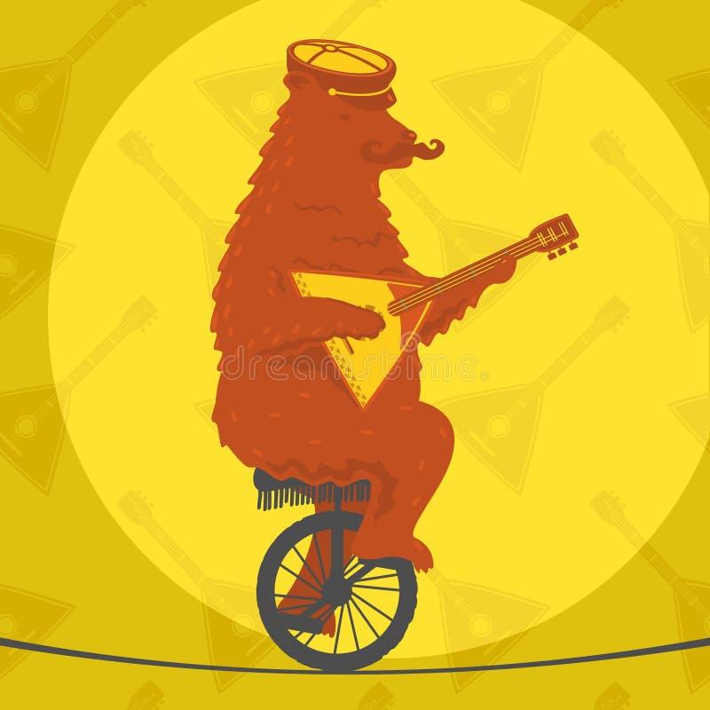 Orso che guida un motociclo illustrazione vettoriale