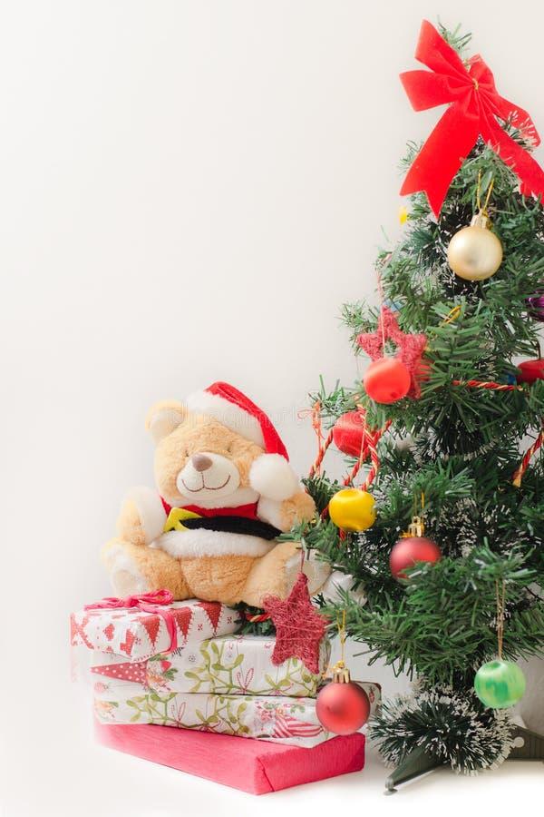 Orso del giocattolo di Natale fotografia stock