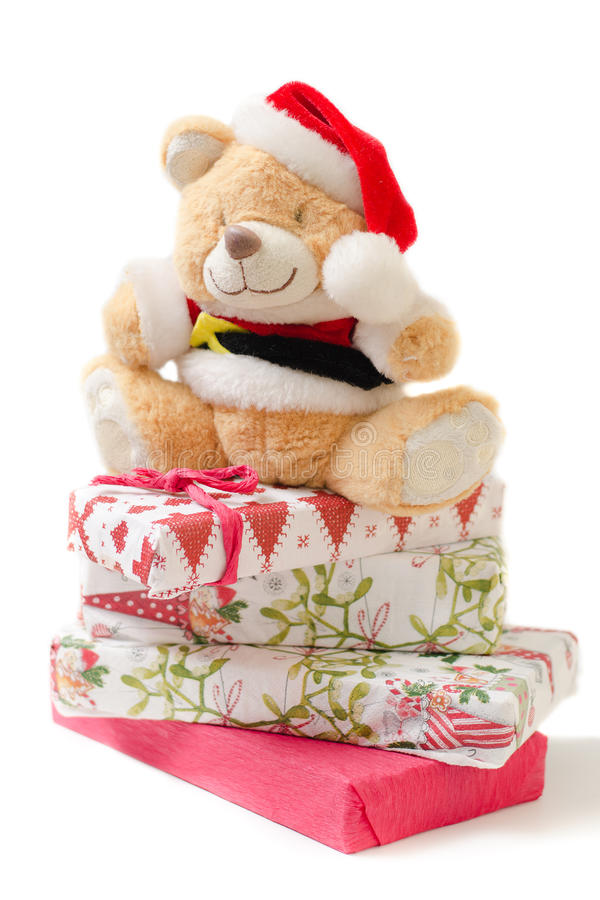 Orso del giocattolo di Natale immagine stock libera da diritti