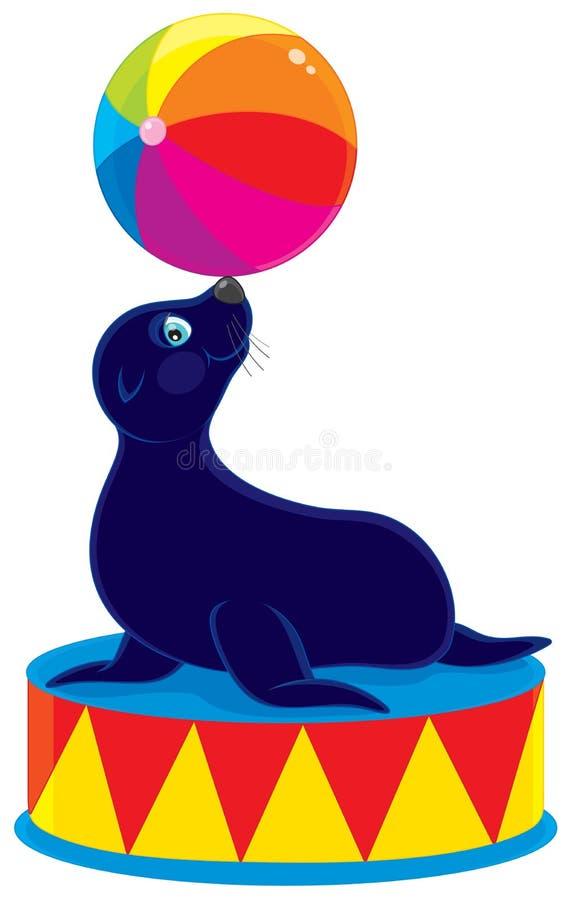 Orso del mare del circo illustrazione di stock