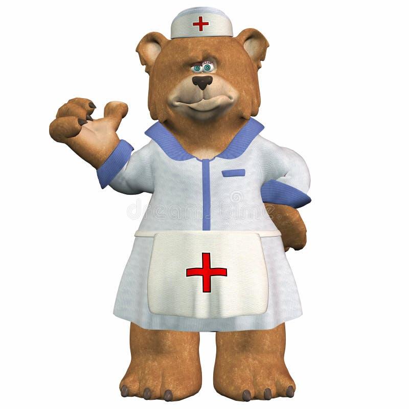 Orso dell'infermiera illustrazione vettoriale