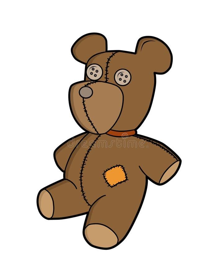 Orso dell'orsacchiotto del fumetto royalty illustrazione gratis