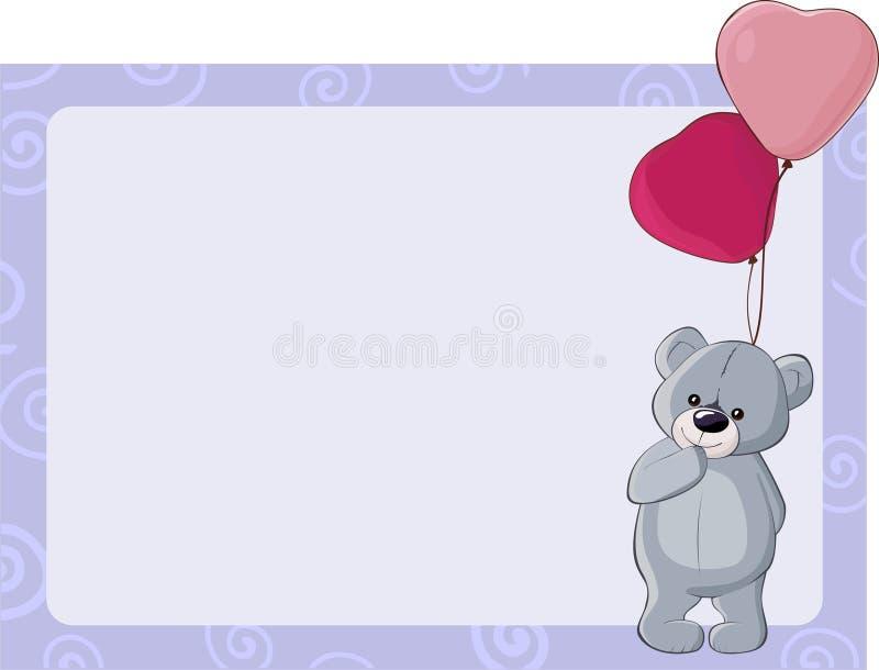 Orso dell'orsacchiotto di celebrazione illustrazione vettoriale