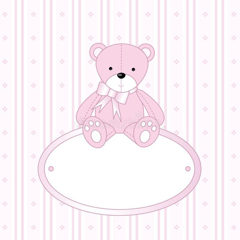 Orso dell'orsacchiotto per la neonata illustrazione di stock