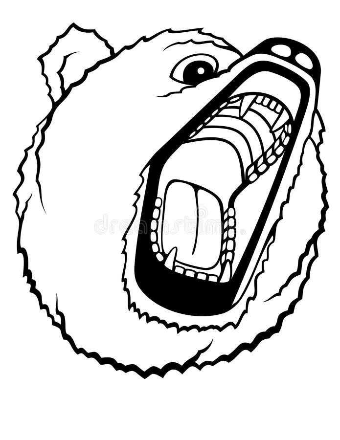 Orso dell'orso grigio royalty illustrazione gratis