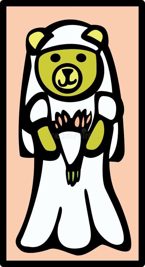 Orso della sposa illustrazione vettoriale