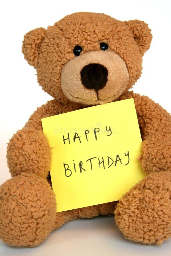Orso di buon compleanno immagini stock