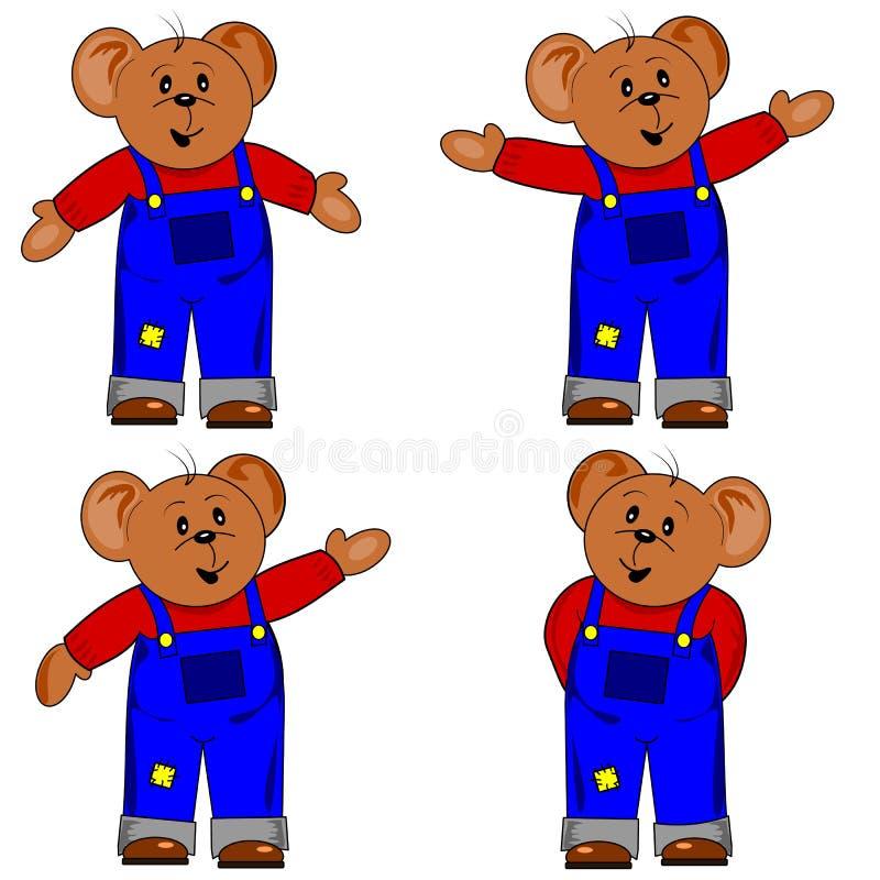 Orso di orsacchiotto del fumetto illustrazione di stock