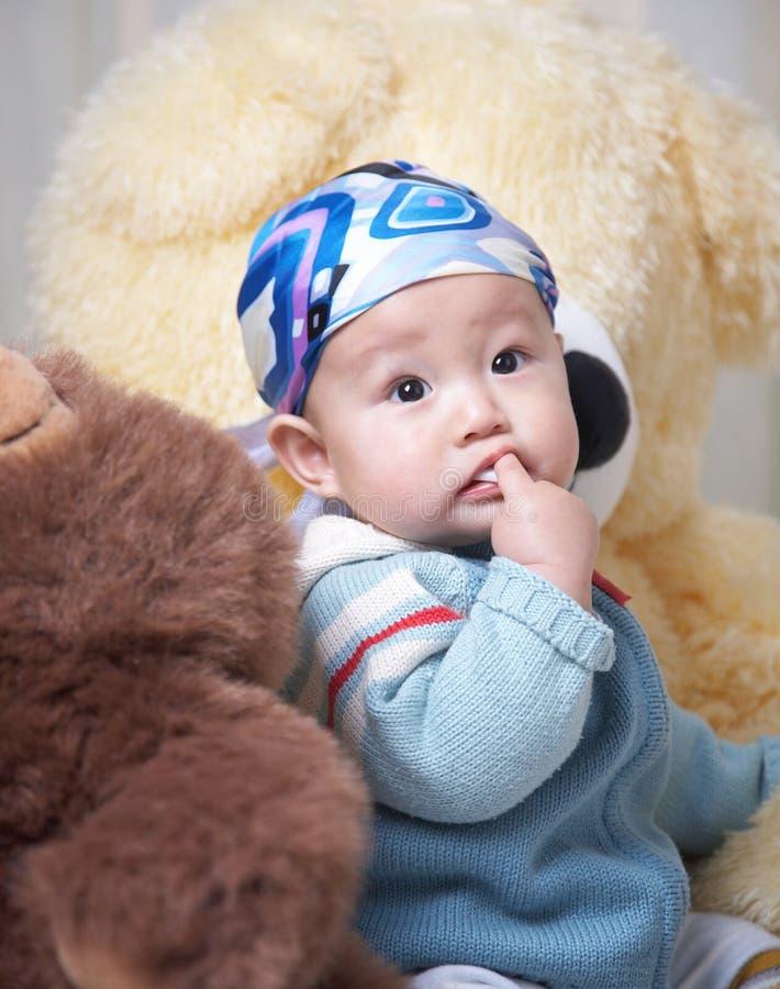 Orso di orsacchiotto e del bambino fotografia stock libera da diritti