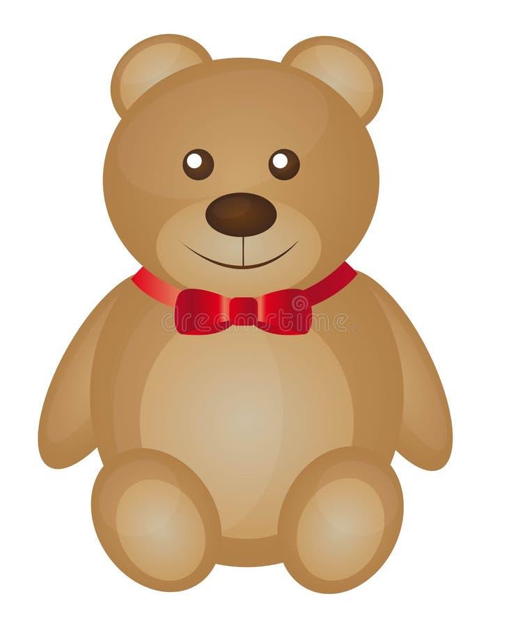 Orso di orsacchiotto sveglio illustrazione di stock