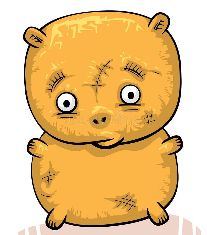 Orso di orsacchiotto vecchio triste illustrazione di stock