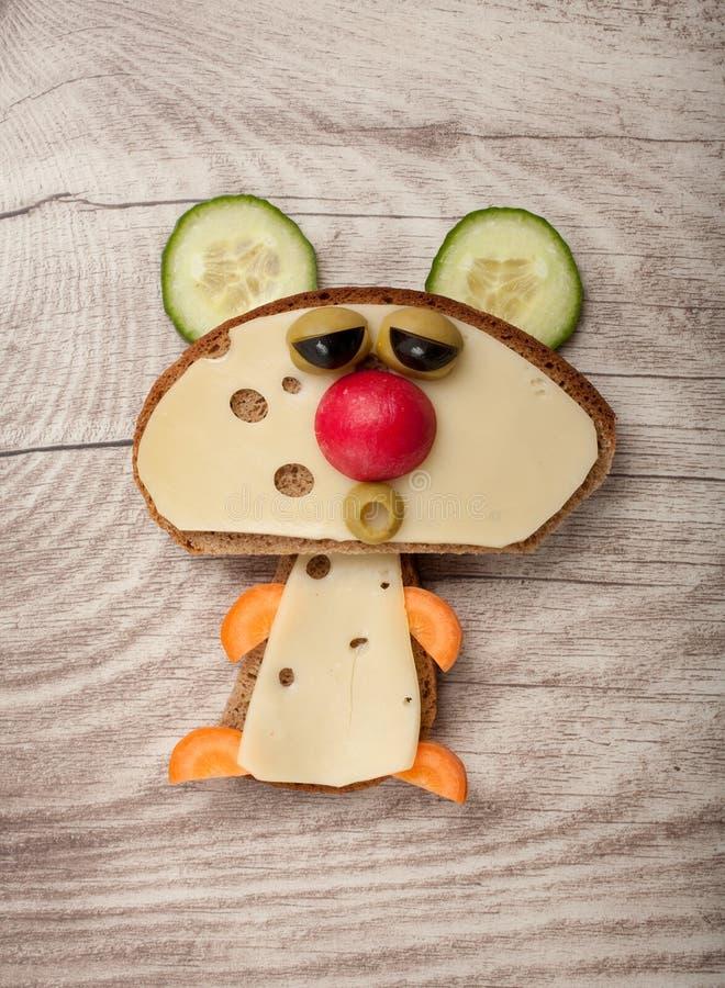 Orso divertente del panino fotografia stock libera da diritti