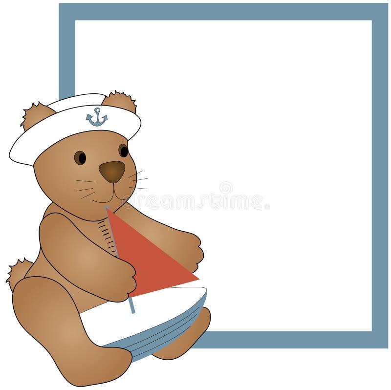 Orso e barca dell'orsacchiotto illustrazione di stock