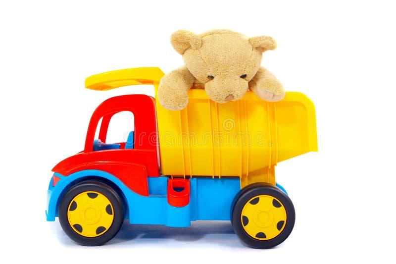 Orso e camion del giocattolo immagini stock libere da diritti