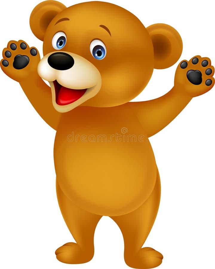 Orso felice del bambino illustrazione di stock