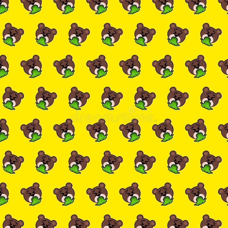 Orso - modello 80 di emoji illustrazione vettoriale