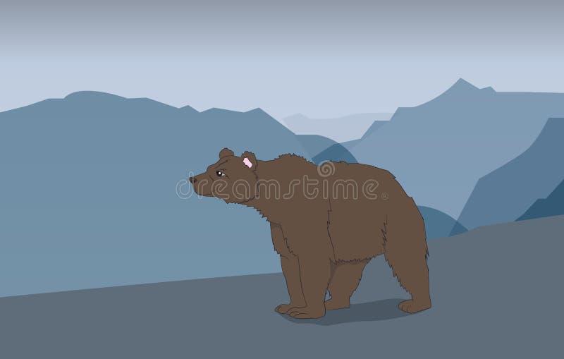 Orso nelle montagne royalty illustrazione gratis
