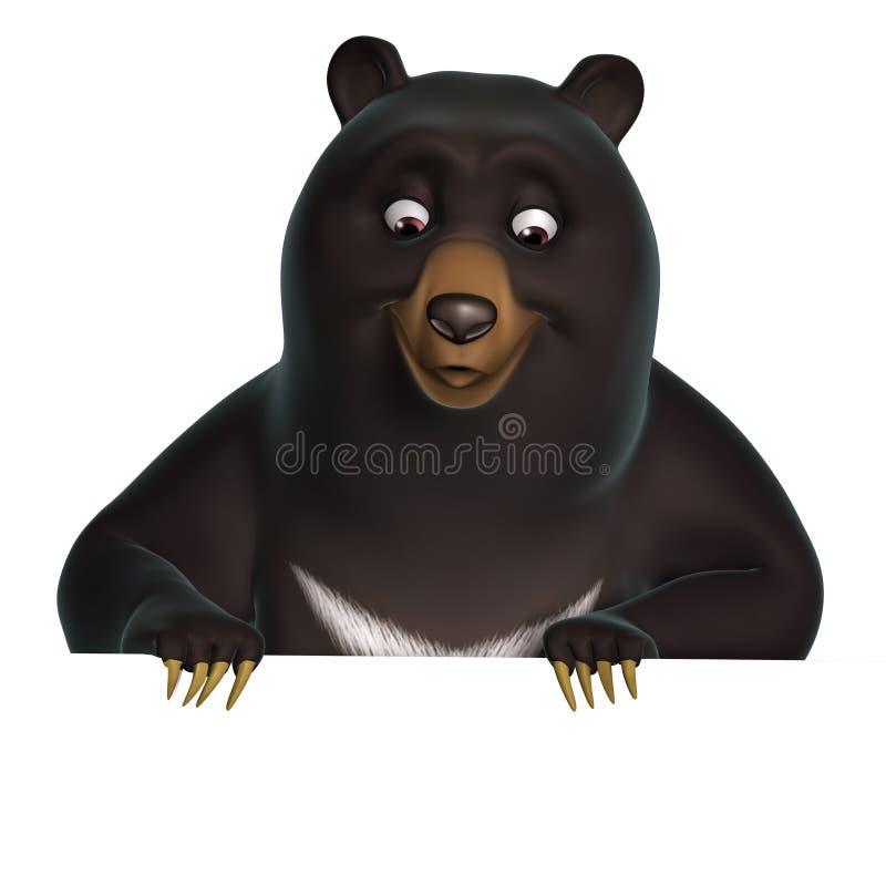 Orso nero illustrazione di stock