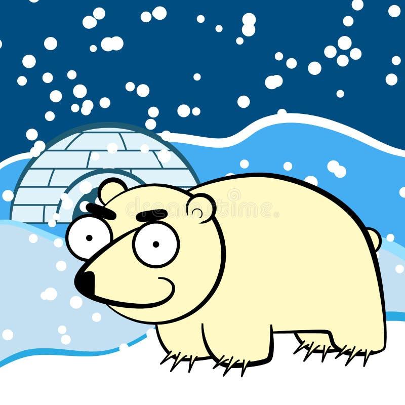 Orso polare del fumetto royalty illustrazione gratis