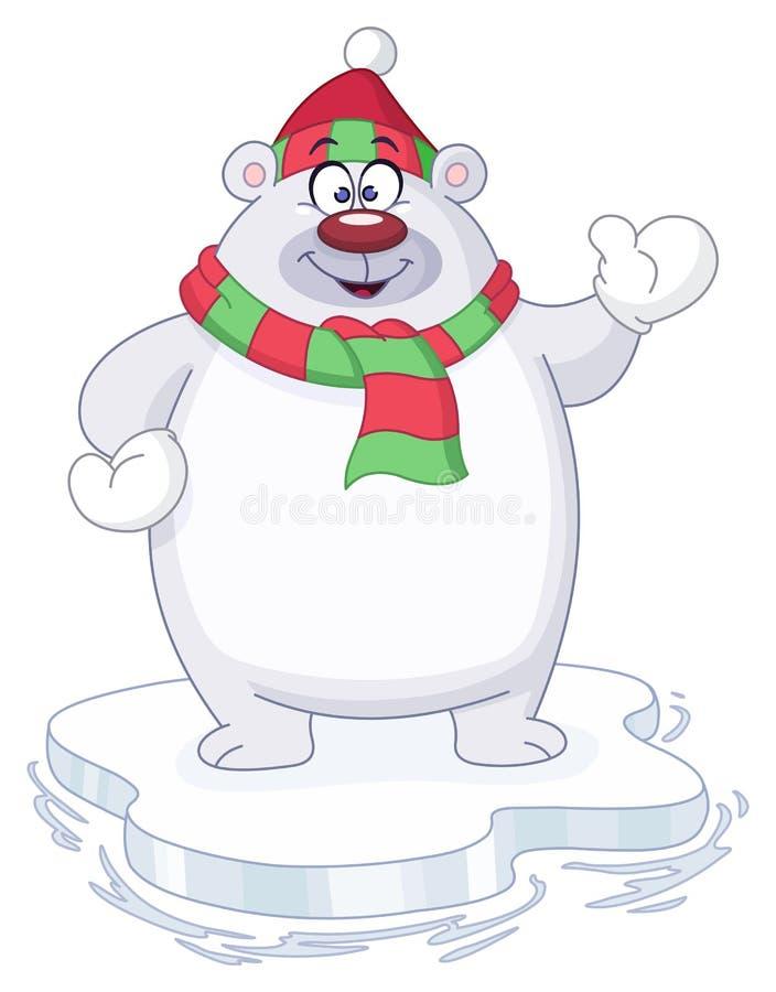 Orso polare di inverno royalty illustrazione gratis
