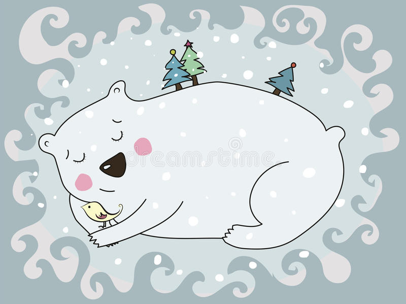Orso polare di Swetty immagini stock
