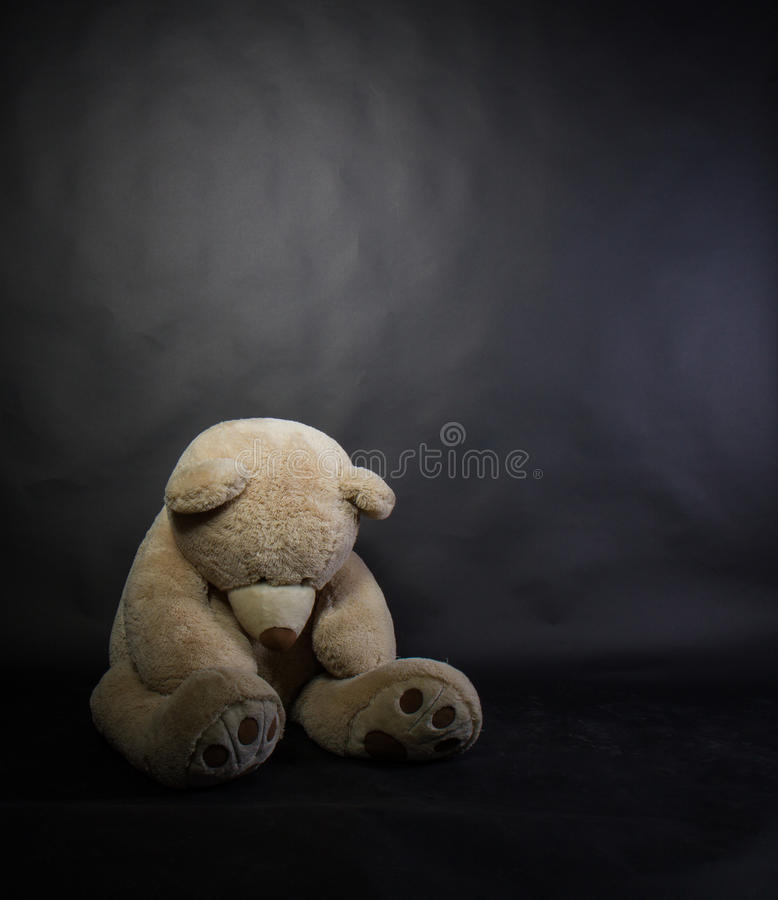 Orso triste fotografia stock