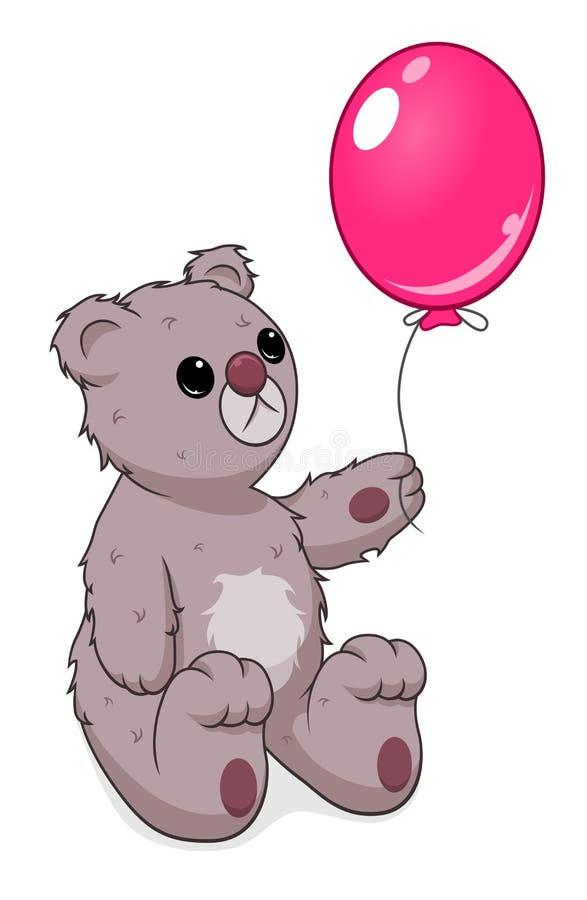Orso triste dell'orsacchiotto illustrazione di stock