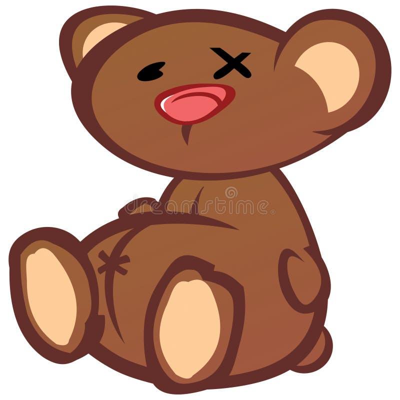 Orso triste dell'orsacchiotto dell'annata illustrazione di stock