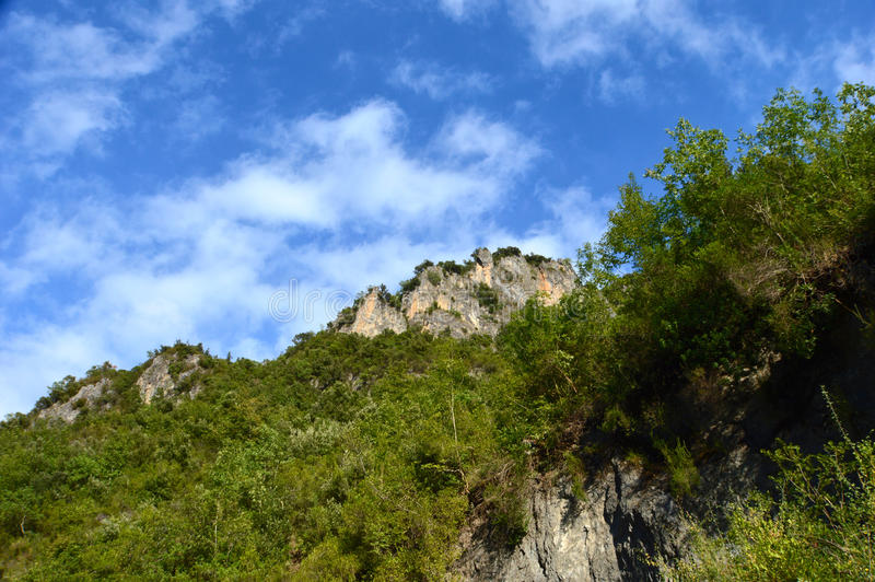 Orsomarso, εθνικό πάρκο Pollino, Καλαβρία, Ιταλία στοκ φωτογραφίες με δικαίωμα ελεύθερης χρήσης