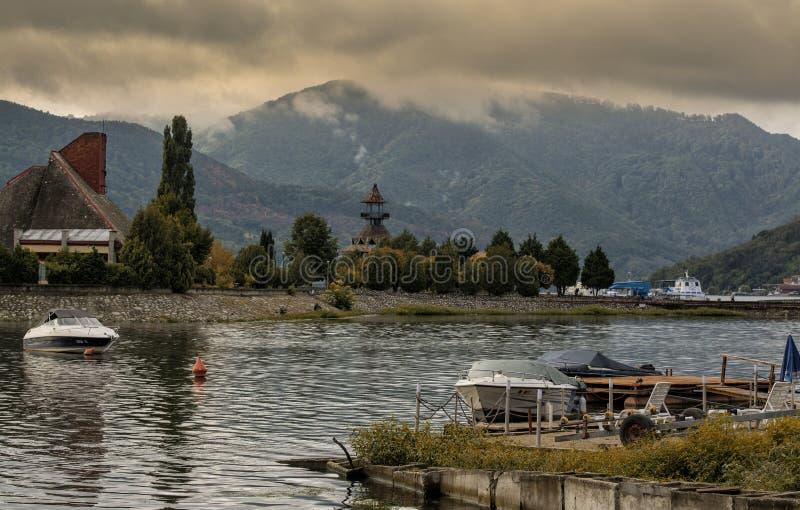 Orsova, città del porto di Danubio fotografia stock
