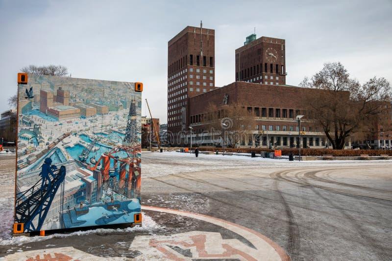 Ort der Friedensnobelpreiszeremonie stockfotos