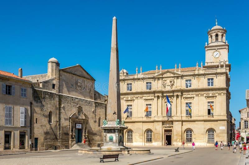 Am Ort der Republik im Arles lizenzfreies stockfoto