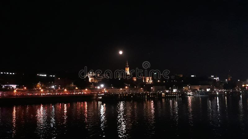 Ort under natten royaltyfri bild