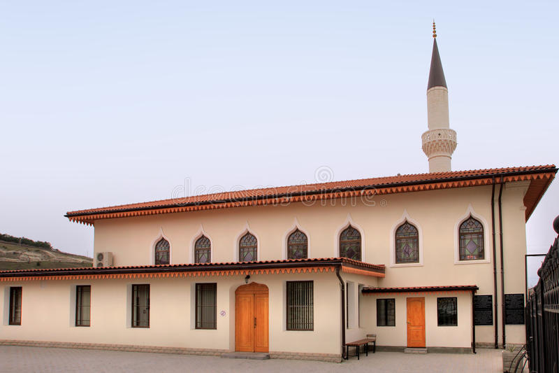 Orta Juma Jami Mosque in Bakhchisaray-Stadt (Krim) lizenzfreie stockbilder