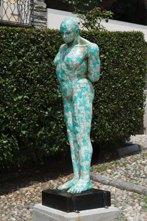 Orta San Giulio. These fascinating Rabarama sculptures were on display around Orta San Giulio in the summer of 2010 stock photos