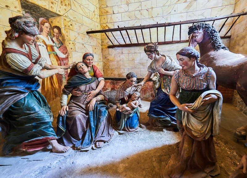 ORTA SAN GIULIO, ITALY/NOVARA - 6 AOÛT 2017 : Détail d'une des 21 chapelles sacrées du Sacro Monte di Orta Piedmont, de photographie stock libre de droits