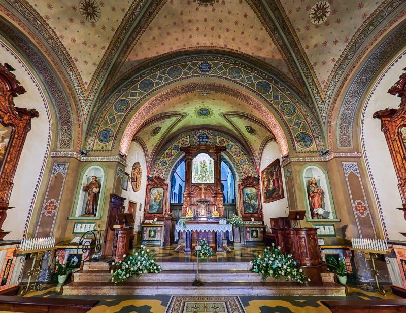 ORTA SAN GIULIO, ITALY/NOVARA - 6 AOÛT 2017 : Détail d'une des 21 chapelles sacrées du Sacro Monte di Orta Piedmont, de photos stock