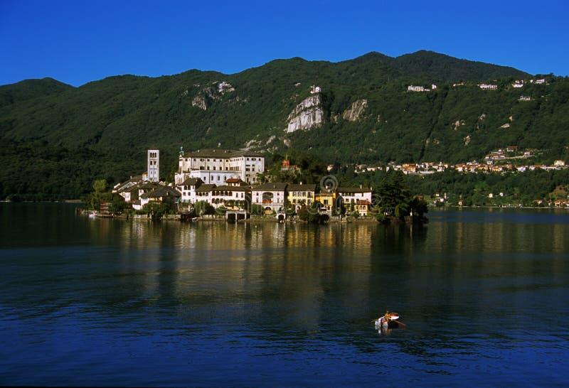 Orta See in Italien stockbilder