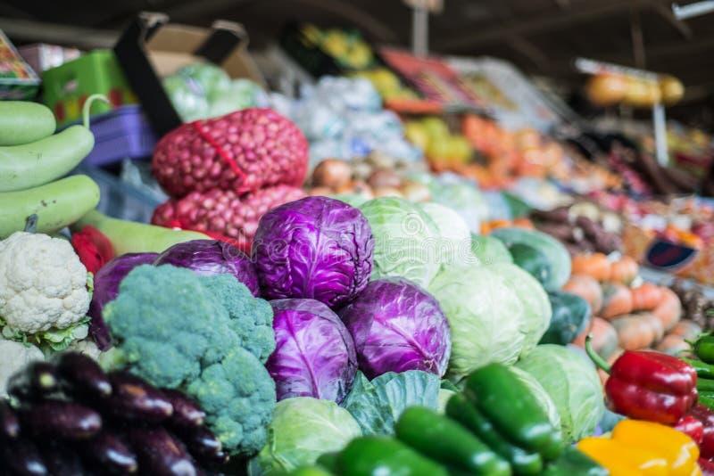Ortaggi freschi al mercato della frutta e di Veg del Dubai fotografie stock