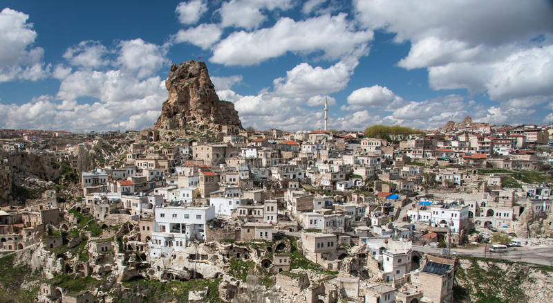 Ortahisar - an old rock town stock image